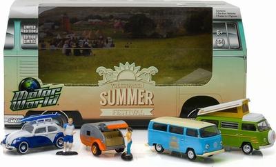 Greenlight 1:64 Diorama 5 auto's Volkswagen Summer Festival