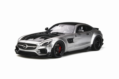 GT Spirit 1:18 AMG GT Modified By Prior Disign zilver satijn