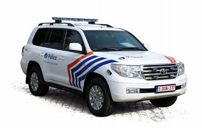 J collection 1:43 Toyota Land Cruiser 200 Politie Belgie