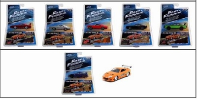 Jada Toys 1:55 set Fast & Furious met bonus Brian's Supra
