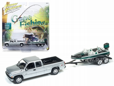 Johnny Lightning 1:64 Chevrolet Silverado 2002 trailer/boot