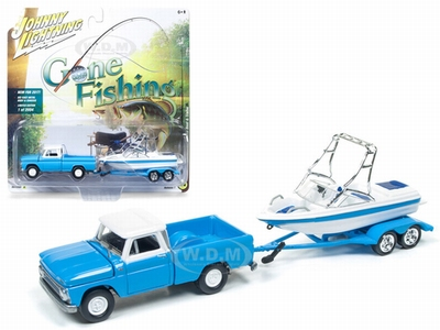 Johnny Lightning 1:64 Chevrolet Truck 1965 met trailer/boot