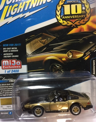 Johnny Lightning 1:64 Datsun 280 ZX 1980 gold black