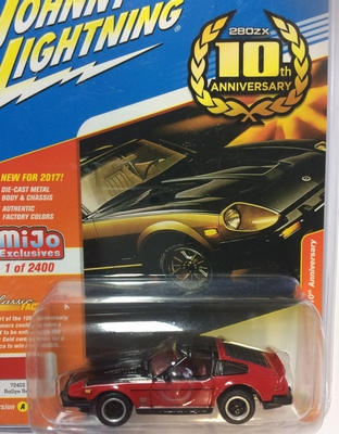 Johnny Lightning 1:64 Datsun 280 ZX 1980 rood zwart