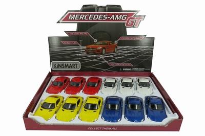 Kinsmart 1:36 Mercedes Benz AMG GT  per stuk