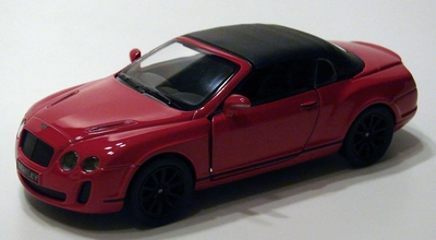 Kinsmart 1:38 Bentley Continental Supersports Convertible ro