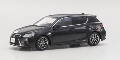 Kyosho 1:43 Lexus CT200H Sport graphite zwart