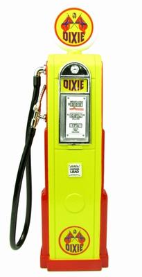 Lucky diecast 1:18 Benzinepomp Dixi geel rood