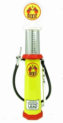 Lucky diecast 1:18 Benzinepomp met kijkglas Dixi geel rood