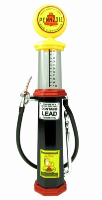 Lucky diecast 1:18 Benzinepomp met kijkglas Penzoil zwart ro