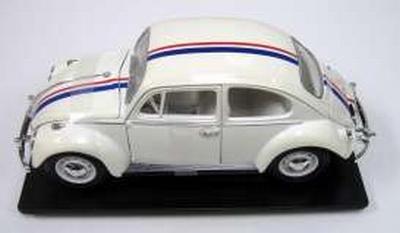 Yatming 1:18 Volkswagen Kever wit met rood en blauwe streep
