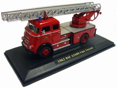 Yatming 1:43 Daf A1600 brandweer ladderwagen Amsterdam