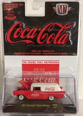 M2 Machines 1:64 Chevrolet Sedan Delivery Coca Cola 1957