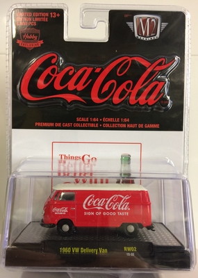 M2 Machines 1:64 Volkswagen Delivery Coca Cola 1960