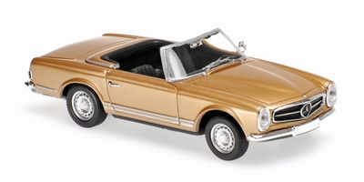 Maxichamps 1:43 Mercedes Benz 230 SL 1965 gold metallic