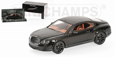 Minichamps 1:43 Bentley Continental supersports 2009 zwart