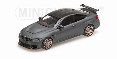 Minichamps 1:43 BMW M4 GTS 2016 Mat Grijs met Oranje velgen