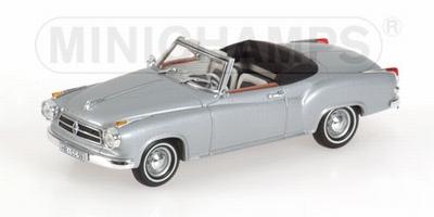 Minichamps 1:43 Borgward Isabella Cabriolet 1959 zilver