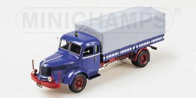 Minichamps 1:43 Krupp Titan Canvas Truck blauw