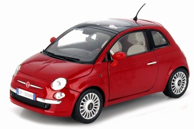 Motor max 1:18 Fiat Nuova 500 rood