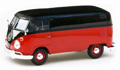 Motor Max 1:24 Volkswagen T2 ( T1) Delivery rood met zwart
