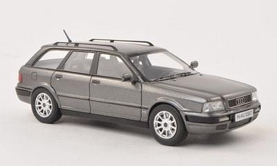 Neo Scale 1:43 Audi 80 Avant 1993 metallic donkergrijs