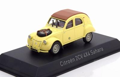 Norev 1:43 Citroen 2CV 4x4 Sahara 1961 panama yellow / geel