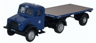 Oxford 1:76 Bedford Ox Flatbed Trailer Lner blauw