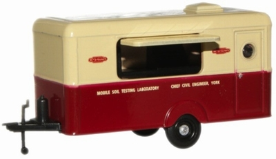 Oxford 1:76 Britisch Rail Soil Testing Trailer Laboratory