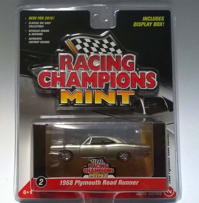 Racing Champions Mint 1:64 1968 Plymouth Road Runner zil