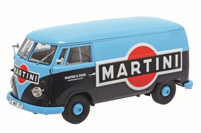 Schuco 1:18 Volkswagen T1b Martini Kastenwagen blauw zwart