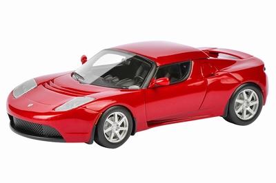 Schuco 1:43 Tesla Roadster Hardtop rood