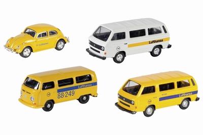 Schuco 1:87 Volkswagen Lufthansa set 4 autos