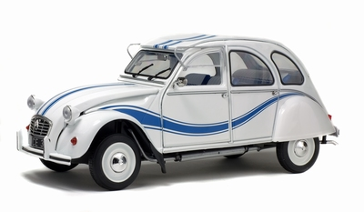 Solido 1:18 Citroen 2CV6 France wit blauw