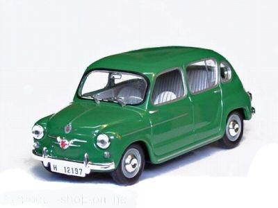 Solido 1:43 Seat / Fiat 800 groen 1964