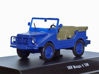 Starline 1:43 DKW Munga THW open blauw