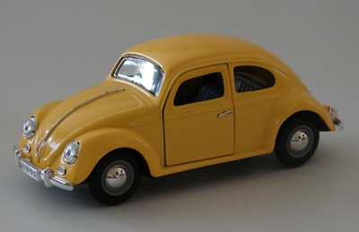 Sunnyside 1:24 Volkswagen Kever geel per stuk
