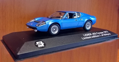 Triple9 Collection 1:43 Ligier JS2 Coupe 1972 blauw