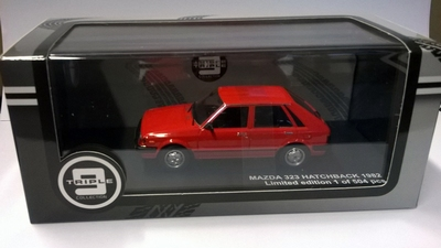 Triple9 Collection 1:43 Mazda 323 Hatback 1982 rood