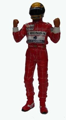 True Scale 1:18 Ayrton Senna Figurine Arms Raised