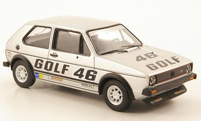 Vanguards 1:43 Volkwagen Golf MKI no 46 1977 zilver