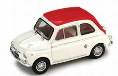 Vitesse 1:43 Fiat Abarth 595SS wit rood