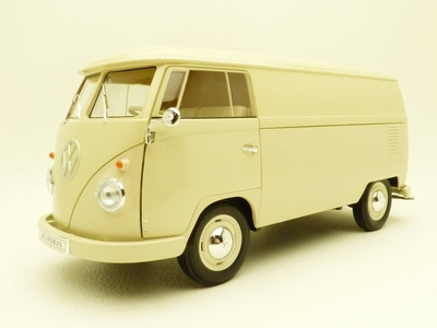 Welly 1:18 Volkswagen T1 panel bus van creme
