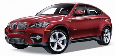 Welly 1:24 BMW X6 2009 rood
