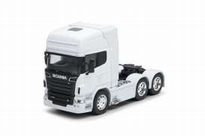 Welly 1:32 Scania V8 R730 (6x4) 2015 wit, trekker