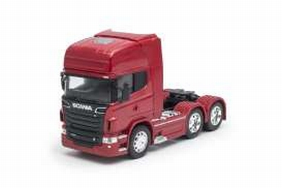 Welly 1:32 Scania V8 R730 6x4 2015 rood, trekker