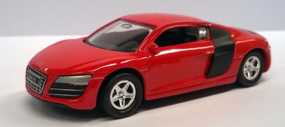 Welly 1:60 Audi R8 V10 rood