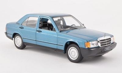 Whitebox 1:24 Mercedes 190 E (W201 ) 1983 metallic blauw