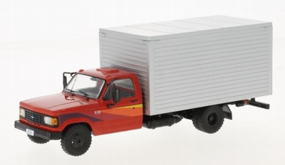 Whitebox 1:43 Chevrolet D-40 Box Truck rood zilver