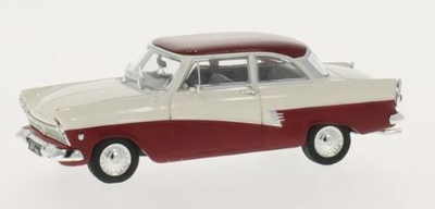 Whitebox 1:43 Ford Taunus 17m wit donker rood